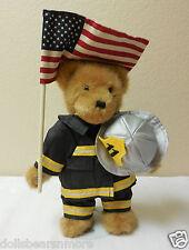 Nwt! Boyds Bears 10in Firefighter McBruin 10 Yr Commeative Bear of 9-11 #4025927