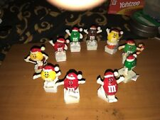 M&M's Lot of 10 Collectible European Square Based Christmas Toppers 1992