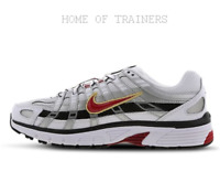 Nike P-6000 White Red-Silver Girls Women's Trainers All Sizes Limited Stock