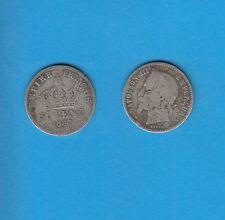 50 Centimes  argent Napoléon III  Tête Laurée 1867 Paris  Exemplaire Numéro 1