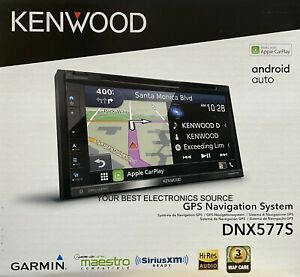 """NEW Kenwood DNX577S 6.8"""" WVGA DVD Apple CarPlay, Android Auto, Car Receiver"""