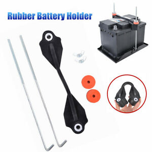 Rubber Battery Hold Down Battery Hold-Down Kit Battery Retaining Clamp w/ Bolt