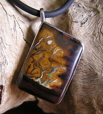 One of a kind handcut and polished Picture Boulder Opal Pendant by KOZ Designs
