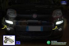 Fari anteriori Led Fiat Panda 2012> luci diurne kit auto lampade tuning 2 per