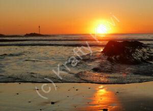 Bude Sunset Cornwall Photo Art Print Canvas (UK)