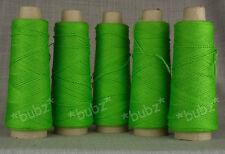 FIVE CONES of 4 PLY JURA WOOL - LIME GREEN 500g TEN BALL KNIT WEAVE CROCHET FELT