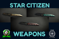 Star Citizen Sawtooth Combat Knife, Weapon Set, Flair, ALL 3 Colors