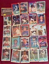 Baseball Cards MLB Altanta Braves Collectable Baseball Cards Lot of 25