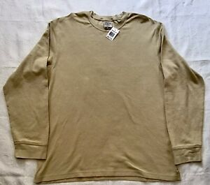 Timberland Waffle Knit Shirt Tan XXL Layering Outdoor Gear New With Tag