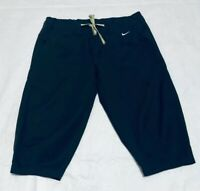 Nike Knee Length Capri Pants Size Small Womens Green Drawstring Athletic Walking