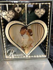 Beautiful Crushed Diamond Crystals LED Photo Frame 8x10 Valentine Christmas Gift