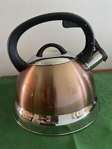 Kitchen Works  2.5 Quart Stainless Steel Whistling Tea Kettle - Cooper