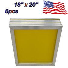 New Listing18 X 20 6pcspack Aluminum Frame Silk Screen Printing Screens With 230 Mesh Us