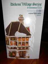 DEPT 56 DICKENS' VILLAGE NEPHEW FRED'S HOME HOUSE NIB