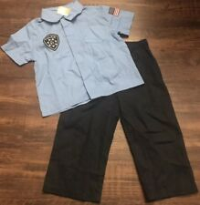 NwT Gymboree Police Costume Shirt & Pants Sz 18-24 Months