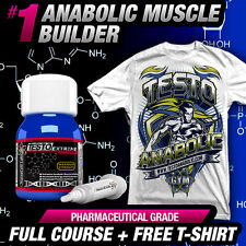 4X TESTO ANABOLIC +FREE T-SHIRT - STRONGEST TESTOSTERONE MUSCLE -NO STEROIDS ALT