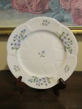 Shelley Bone China England Dainty Blue Rock Salad Plate 8""
