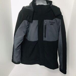 Reebok 3 in 1 Boys Winter Coat Jacket Black / Gray Size 10 / 12 Husky EUC