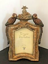 Nwot Vintage Look Tropic Of Paradise Parrot Photo Frame W/ Fruit Basket 4� X 6�
