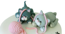 Cats cake topper Handmade edible Birthday cake decoration any occasion party