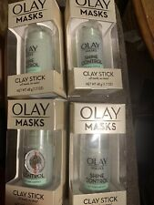 Olay Masks Shine Control Tea Tree Extract Lot Of 4Clay Stick 1.7oz Oil Absorbing