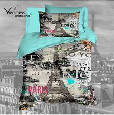 Pierre Cardin Mikrofaser Wende-Bettwäsche I love Paris weiß grau 135x200 80x80