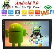 Double 2DIN Android9.0 Car Stereo MP5 Quad Core GPS Bluetooth WiFi FM Radio 10in