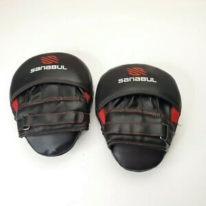 Sanabul Essential Curved Boxing MMA Punching Mitts - Used in Good Condition