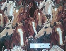Patchwork Quilting Fabric RUNNING FREE HORSES Sewing Material Cotton FQ 50X55cm