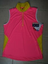 Nwt Womens Golf America Golf Top, Large, Zip Neck, Orig. $55., Great For Spring!