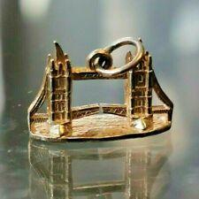 Tower Bridge, Classic 9ct Gold Charm Full Hallmarks Worldwide Shipping #Cd