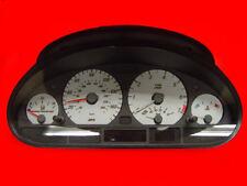 Silver Gauge Face Overlay For 1999-2005 BMW E46 3 Series 4D Sedan / 5D Wagon