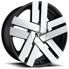 """4-NEW Dub S225 Butta 22x9.5 6x135/6x5.5"""" +30mm Black/Machined Wheels Rims"""