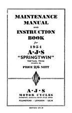 (0050) 1954 AJS Twins Maintenance manual