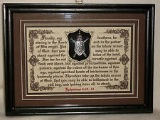 The Whole Armor of God~Bible,Verses,Scripture,Plaques,Christian,Framed Gifts $49