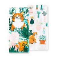 Garden Cat 2 Pack Kitchen Towels by Kohls Celebrate Spring Together