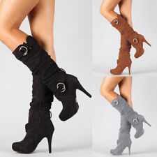 Womens  Stiletto Boot Thigh High Slouchy Boot Over The Knee Sexy Boot Ring