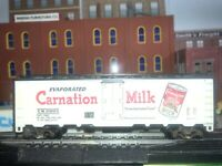 Athearn Carnation Evaporated Milk C.M.25003 Reefer BoxCar WHITE HO Vintage C7👍