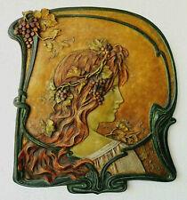 Johann Maresch Jugendstil-Nymphe Art Nouveau Antike Terracotta Reliefbild 1900