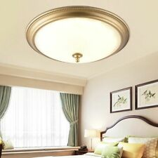 LED Round Ceiling Lights Golden Plated Metal Glass Body Country Front Door Entry