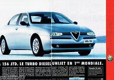 PUBLICITE ADVERTISING 125  1998  Alfa Romeo  156 JTD   ( 2p)