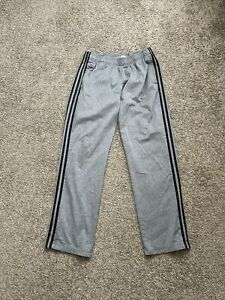 Adidas Mens Athletic Track Sweat Pants Black Gray Stripes Training Size Large