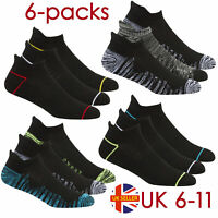Mens 6 Pairs Multipack Sports Trainer Socks Ankle Low Rise Gym White Cushioned