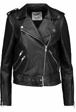 Handmade Femmes Neuf Noir en Cuir Véritable Rivets Veste de motard avec main fixe Rivets