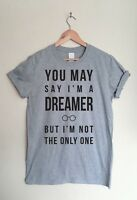 John Lennon Music Lyrics T-shirt -  Imagine Song Inspired Tee Beatles Fan