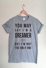 John Lennon Música Letra T-Shirt Tee-Imagine canción inspirado Ventilador De Los Beatles