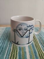 Anthropologie Florence Balducci Coffee Mug Monogram M Moon