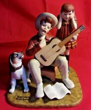 "Norman Rockwell Porcelain Figurines American Family. ""Music Man�"