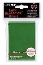 50 DECK PROTECTORS Green Verde MTG MAGIC ULTRA PRO