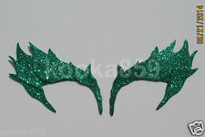 Poison Ivy Eyebrows Green Leaf Extreme Glitter eye mask costume Riddler Batman